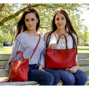 17623 Mariah Convertible Tote Red Coffee 2