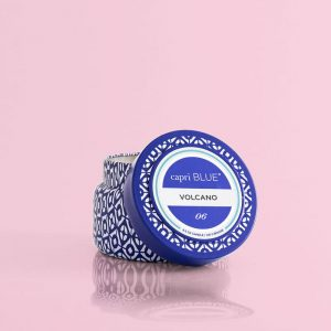 3876 Printed Travel Tin Candle Blue