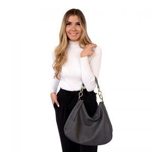 3958 Shanae Chain Handle Bag Charcoal 2